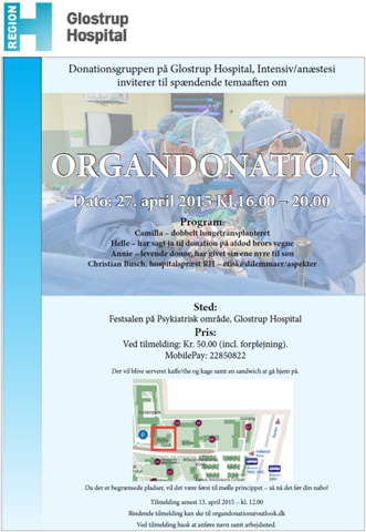 Organdonation temaaften foto af plakat